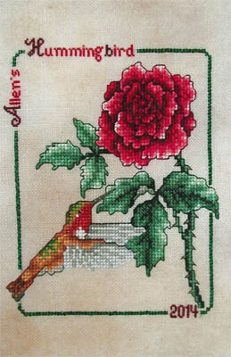 Allen's Hummingbird 2014 - Cross Stitch Pattern