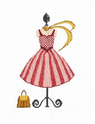 My Pink Dress - Cross Stitch Pattern