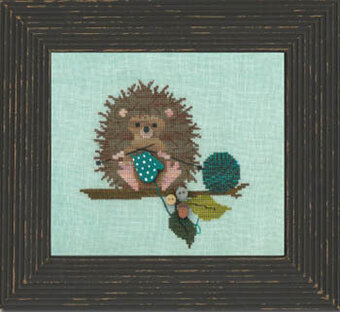Woodland Hedgehog (w/buttons) - Cross Stitch Pattern