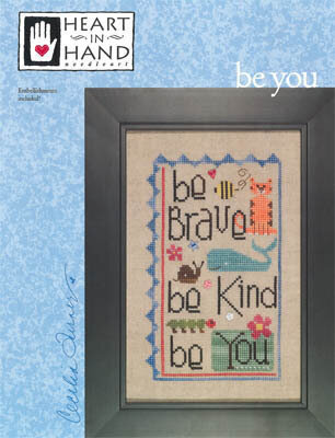 Be You (with embellishments) - Cross Stitch Pattern