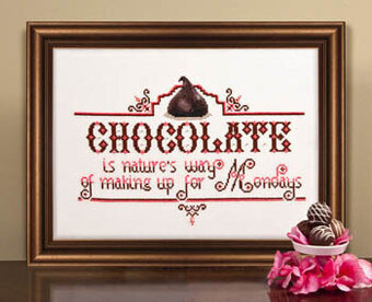 Chocolate Monday - Cross Stitch Pattern
