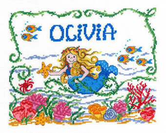 Once Upon a Mermaid - Cross Stitch Pattern