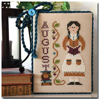 Calendar Girls - August - Cross Stitch Pattern
