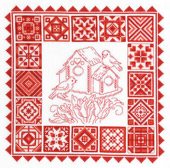 Redwork Quilt - Cross Stitch Pattern
