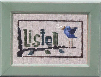 Daily Reminder - Listen - Cross Stitch Pattern
