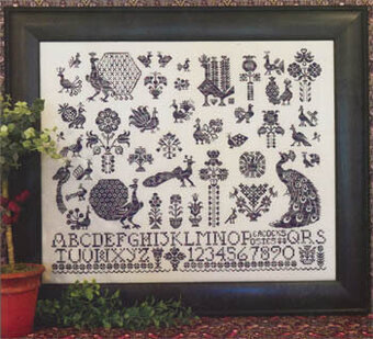 Peacocks & Posies - Cross Stitch Pattern
