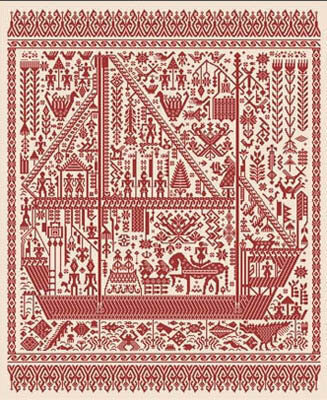 Big Red Ship of Life - Cross Stitch Pattern