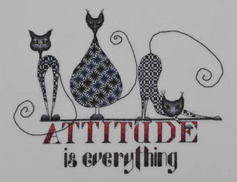 Attitude is Everything (Cats) - Cross Stitch Pattern