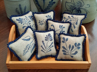 Stoneware PinPillows - Cross Stitch Pattern