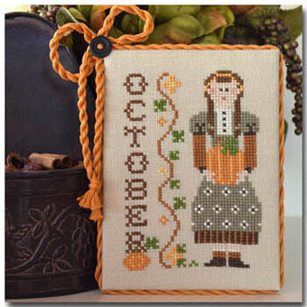 Calendar Girls October - Cross Stitch Pattern