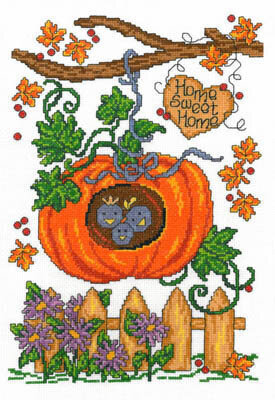 Autumn Birdhouse - Cross Stitch Pattern