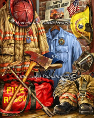 Hometown Hero Firefighter - Cross Stitch Pattern