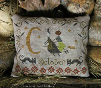 Fancey Blackett - October Ride - Cross Stitch Pattern