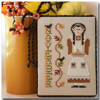 Calendar Girl November - Cross Stitch Pattern