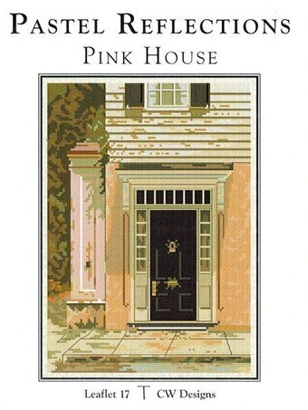 Pastel Reflections Pink House - Cross Stitch Pattern