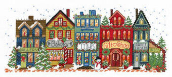 Holiday Main Street - Cross Stitch Pattern