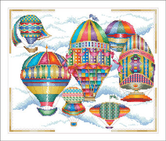 18th Century Balloons - Cross Stitch Pattern