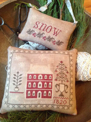 Snowed In Pinkeep & Ornament - Cross Stitch Pattern