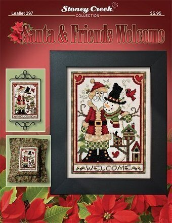 Santa & Friends Welcome - Cross Stitch Pattern