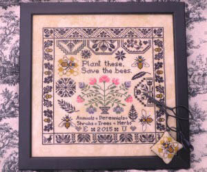 Save the Bees - Cross Stitch Pattern