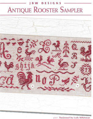 Antique Rooster Sampler - Cross Stitch Pattern