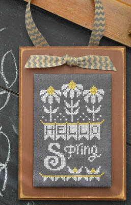 Year in Chalk April - Cross Stitch Pattern