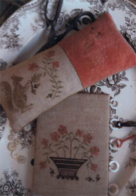 Squirrel Pinkeep & Flower Basket - Cross Stitch Pattern
