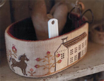 Primrose Farm Sewing Basket - Cross Stitch Pattern