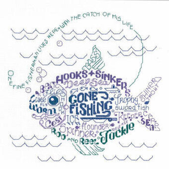 Let's Go Fishing - Cross Stitch Pattern