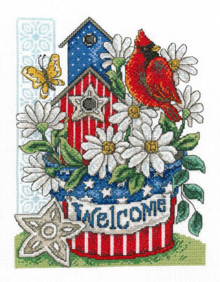 Patriotic Welcome - Cross Stitch Pattern