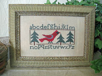 Cardinal Sampler - Cross Stitch Pattern