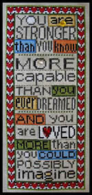 You are Loved (with charm) - Cross Stitch Pattern