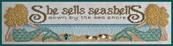 She Sells Seashells (with charms) - Cross Stitch Pattern