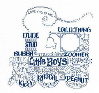 Let's Love Little Boys - Cross Stitch Pattern