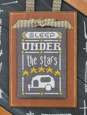 Year in Chalk August - Cross Stitch Pattern