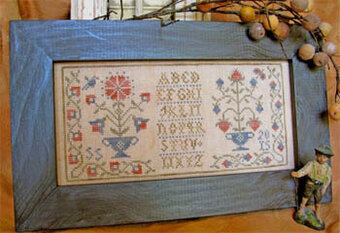 Colonial Flowers I Revisited - Cross Stitch Pattern