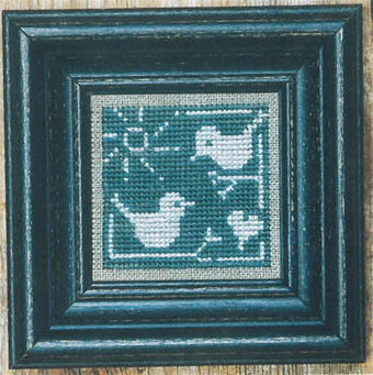Summer Bluebirds + White - Cross Stitch Pattern