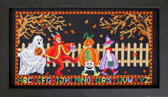 Let's Go Trick or Treating - Cross Stitch Pattern