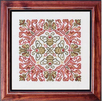 Red-Headed Bee - Cross Stitch Pattern