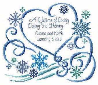 Imaginating Winter Wedding - Cross Stitch Pattern - 123Stitch.com