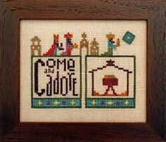 Double Up: Nativity - Cross Stitch Pattern (with button)
