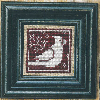 Winter Redbird + White - Cross Stitch Pattern