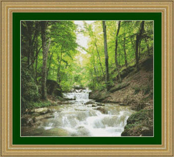Forest Stream - Cross Stitch Pattern
