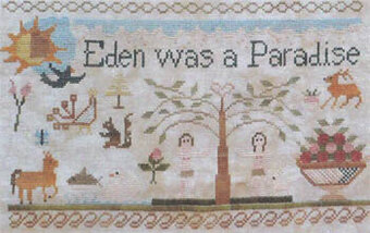 Jenny Bean Parlor 2 - Adam & Eve - Cross Stitch Pattern