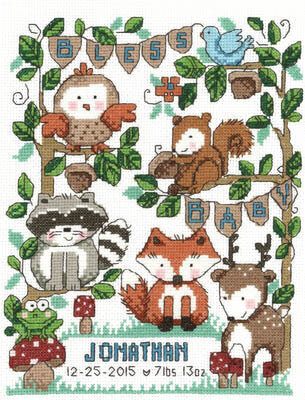 Bless Baby - Cross Stitch Pattern