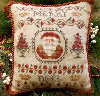 Merry Noel Sampler Santa - Cross Stitch Pattern