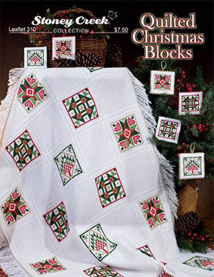 quilted christmas blocks cross stitch pattern
