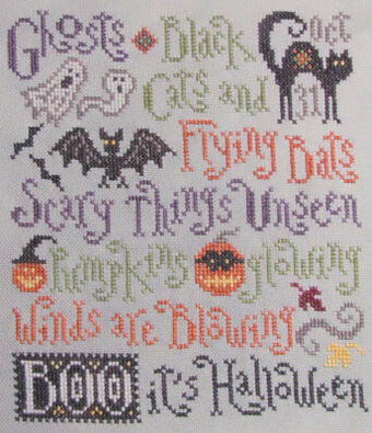 Scary Things October Brings - Cross Stitch Pattern
