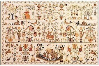 Sampler 1790 Dutch Beauty - Cross Stitch Pattern