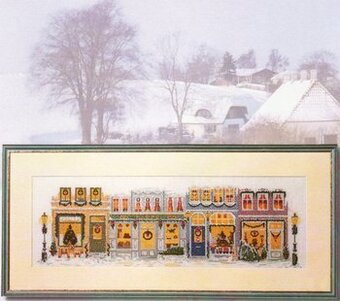 Christmas In Town - Cross Stitch Pattern